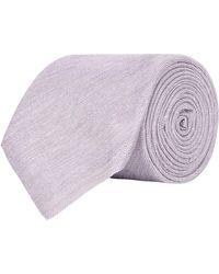 Harrods - Silk Plain Tie, Beige, One Size - Lyst