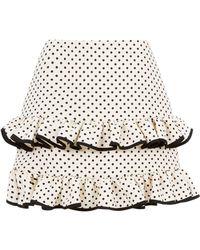 Valentino - Polka Dot Ruffle Skirt - Lyst