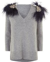 Johanna Ortiz - Hierbatera Cashmere Feather Sweater - Lyst