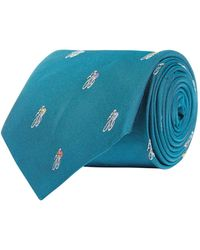 Paul Smith - 3d Cyclist Patterned Tie, Green, One Size - Lyst
