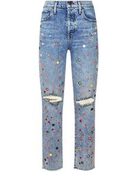Alice + Olivia - Amazing Slim Girlfriend Jeans - Lyst