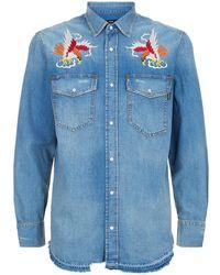DIESEL - Embroidered Denim Shirt - Lyst