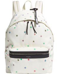 Saint Laurent - Star Print Backpack - Lyst
