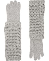 Moncler   Long Knitted Gloves   Lyst