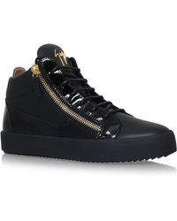 Giuseppe Zanotti - Mid-top Mixed Leather Trainer - Lyst