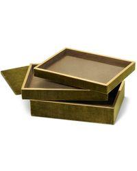 Aerin Valentina Velvet Stacked Jewellery Box