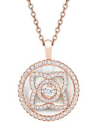 De Beers - Rose Gold And Mother Of Pearl Enchanted Lotus Pendant - Lyst