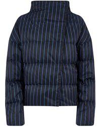 Theory - Stripedoff-setpuffer Jacket - Lyst