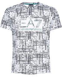 Armani - Printed Logo T-shirt - Lyst