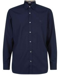 Burberry - Embroidered Logo Shirt - Lyst
