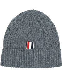Thom Browne - Ribbed Cashmere Beanie - Lyst