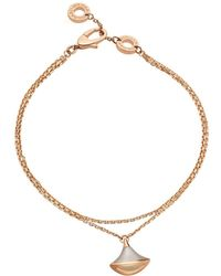 BVLGARI - Rose Gold And Mother-of-pearl Divas' Dream Bracelet - Lyst