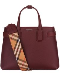 Burberry - Small Leather Banner Bag - Lyst