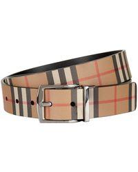 Burberry - Check Belt - Lyst