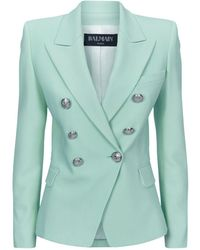 Balmain - Double-breasted Cotton Blazer - Lyst