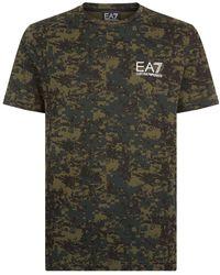 Armani - Camouflage Logo T-shirt - Lyst