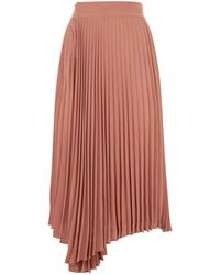 Vince - Pleated Crepe De Chine Wrap Skirt - Lyst