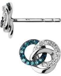 Links of London - Sterling Silver And Blue Diamond Treasure Earrings - Lyst