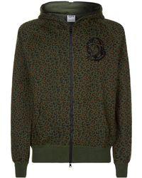 BBCICECREAM - Leopard Print Zip Up Hoodie - Lyst