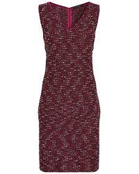 St. John - Textured Knit Shift Dress - Lyst