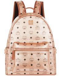 MCM - Medium Metallic Stark Backpack - Lyst
