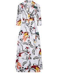 Erdem - Kasia Midi Shirt Dress - Lyst
