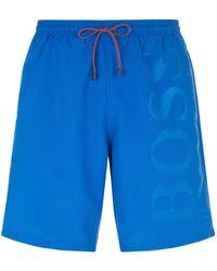 BOSS - Logo Swim Shorts - Lyst
