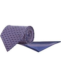 Stefano Ricci - Tile Print Silk Tie And Pocket Square - Lyst