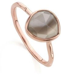 Monica Vinader - Siren Grey Agate Stacking Ring - Lyst