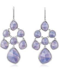 Monica Vinader - Siren Blue Lace Agate Chandelier Earrings - Lyst