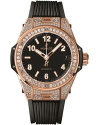 Hublot - Big Bang One Click 18k King Gold Pav Watch - Lyst