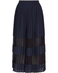 Claudie Pierlot - Pleated Midi Skirt - Lyst
