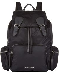 Burberry - Large Buckled Rucksack - Lyst