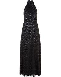Emporio Armani - Sequin Embellished Halterneck Gown - Lyst