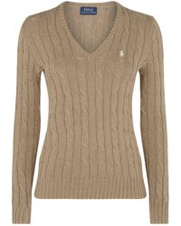 Polo Ralph Lauren - Kimberly Cable Knit Sweater - Lyst