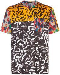 Versace - Brushstroke Print T-shirt - Lyst