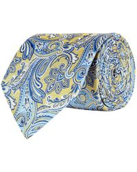 Eton of Sweden   Enlarged Paisley Print Tie, Yellow, One Size   Lyst