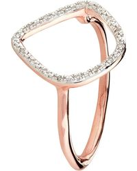 Monica Vinader - Riva Rose Gold Plated Diamond Ring - Lyst