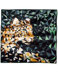 Cartier   Pixel Panther Motif Scarf   Lyst