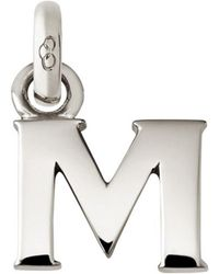 Links of London - Sterling Silver Letter M Charm - Lyst