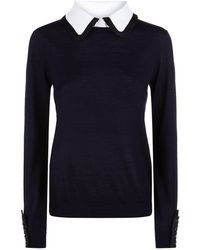 Claudie Pierlot - Pleated Trim Sweater - Lyst