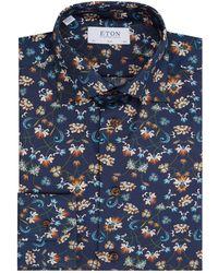 Eton of Sweden - Floral Slim Fit Shirt - Lyst