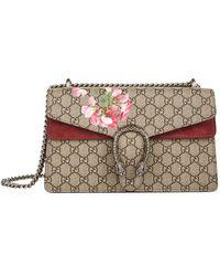 cd3e28ac Gucci Blooms Gg Supreme Mini Chain Bag in Pink - Lyst