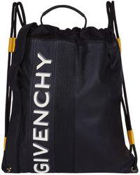 Givenchy - Reverse Logo Drawstring Backpack - Lyst