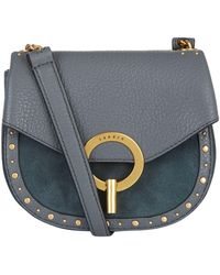 e30b804edb45 Sandro Textured-leather Shoulder Bag in Black - Lyst