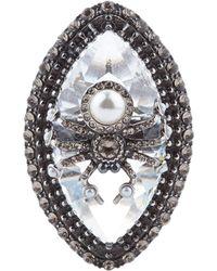 Alexander McQueen - Swarovski Crystal Spider Ring - Lyst