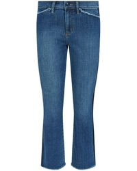 Tory Burch - Harley Frayed Crop Jeans - Lyst