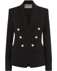 L'Agence - Kenzie Double Breasted Blazer - Lyst