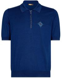 Zilli - Alligator Zip Polo Shirt - Lyst