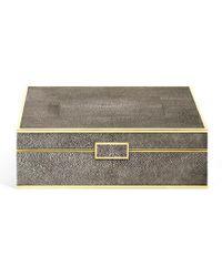 Aerin - Shagreen Large Jewellery Box - Lyst
